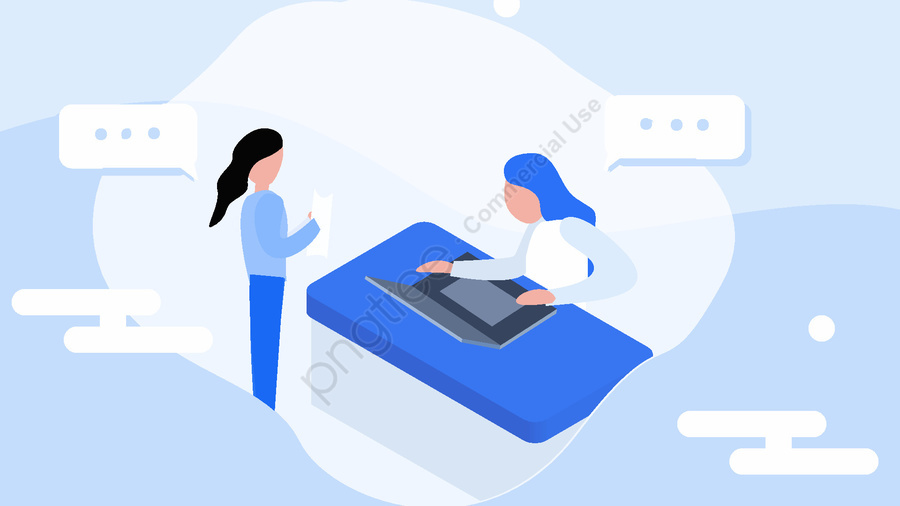Technology Future Life Office Business Simple Flat Illustration, Technology, Future, Life llustration image