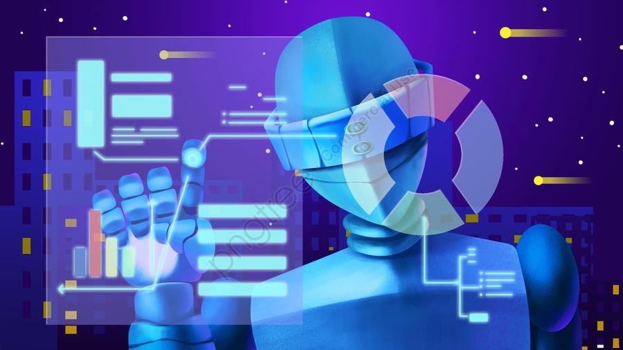 प्रौद्योगिकी रोबोट भविष्य की तकनीक कृत्रिम बुद्धिमत्ता आधुनिक मूल, विज्ञान और प्रौद्योगिकी, रोबोट, भविष्य की तकनीक llustration image