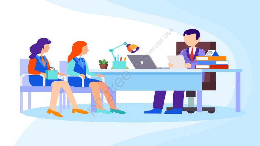 Original vector office meeting illustration, ベクトル, 事務所, 会議 llustration image