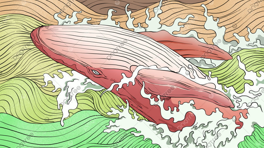 Sea And Whale Healing System Illustration, Whale, Sea, Illustration llustration image