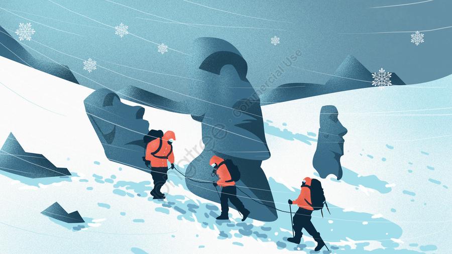 겨울 눈 현장 숨이 신선하고 아름다운 그림, 겨울 눈 현장, 돌 조각, 얼음과 눈 llustration image