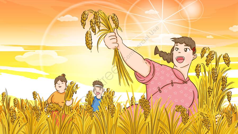 يوم الغذاء العالمي والناس سعداء والحصاد الكبير والتوضيح الأصلي رسمت باليد يوم الغذاء العالمي يوم الغذاء طعام صورة توضيحية على Pngtree غير محفوظة الحقوق