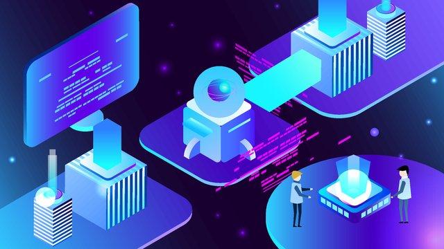 25d semi stereo global programmers day business technology vector illustration llustration image illustration image