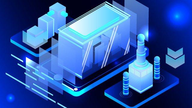 2 5d semi stereo blue technology future business vector illustration llustration image illustration image