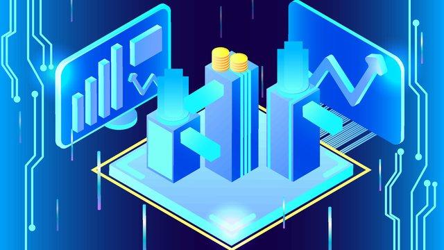 blue 2 5d business finance technology future vector illustration llustration image illustration image