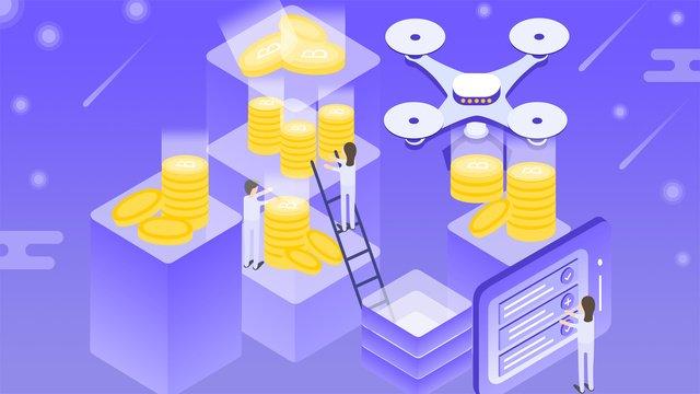 25 d bitcoin treasuresオリジナルイルミネーショングラデーションイラスト イラスト素材
