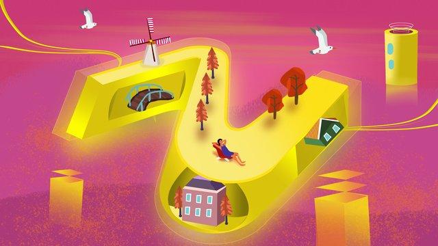 Z breathable letter illustration, 2.5d, 25d, Banner illustration image