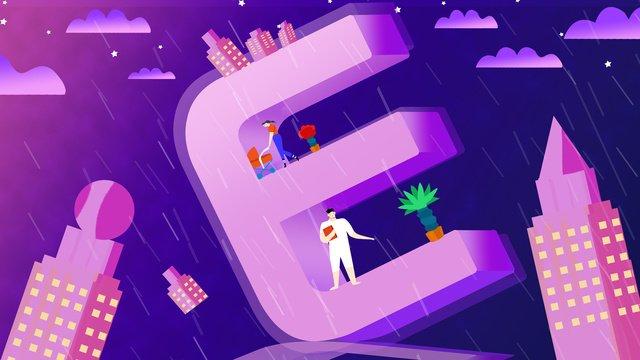 e thư thoáng khí minh họa 2 5d Hình minh họa Hình minh họa