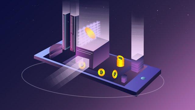 25d bitcoin blockchain technology life Мобильный финансовый плакат Ресурсы иллюстрации Иллюстрация изображения