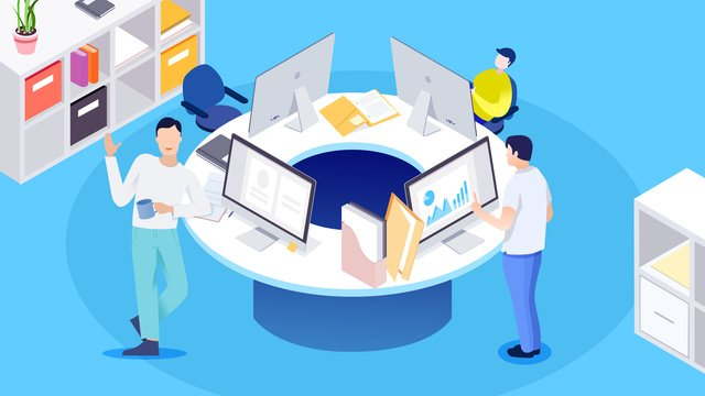 2 5d vector business people working in office llustration image illustration image