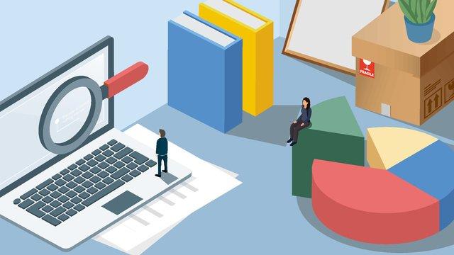 2 5d văn phòng kinh doanh nhân viên phẩm máy tính để bàn sáng tạo Hình minh họa Hình minh họa