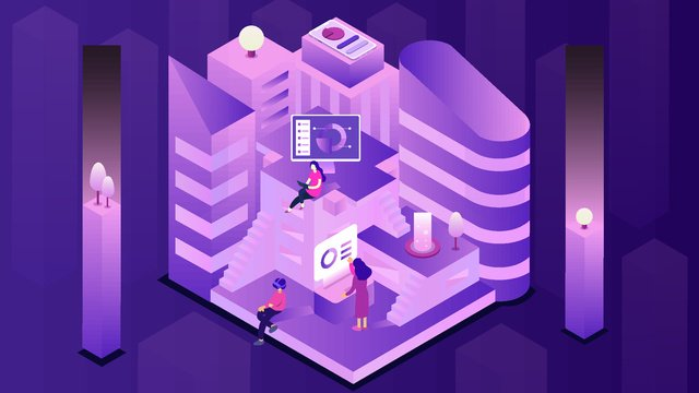 Minh họa công nghệ tài chính thành phố 25d2  5đ  Thành PNG Và Vector illustration image