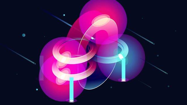 25d colorful gradient technology sense blockchain internet number 0 llustration image illustration image