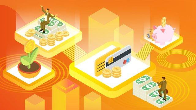 Minh họa tài chính công nghệ gradient 25d25d  Minh  Họa PNG Và PSD illustration image