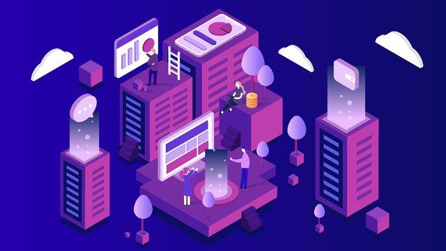 Minh họa xây dựng công nghệ tài chính 25d2  5đ  Minh PNG Và Vector illustration image