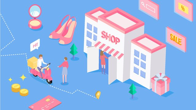2 5d taobao shopping discount carnival pink imej keterlaluan