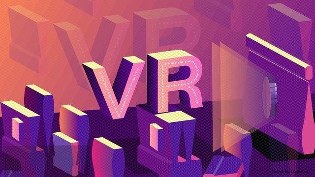 25d vector purple technology المستقبل vr الذكاء الاصطناعي صورة التوضيح