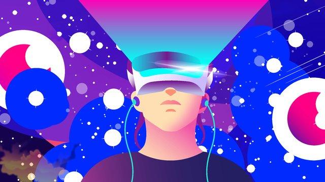 2 5dvr आभासी वास्तविकता ब्रह्मांड तारों का खेल शैली चित्रण छवि चित्रण छवि