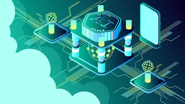 25d artificial intelligence ai business technology future vector illustration, 25d, 25d, 2.5d illustration image
