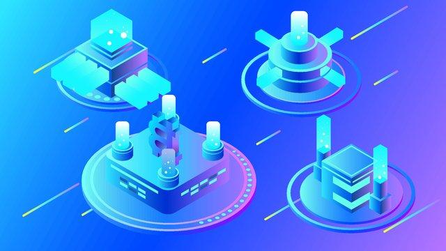 2 5 dビジネスファイナンスbitcoin blockchain technology vector illustration イラスト素材