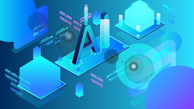 25d micro stereo intelligent ai technology office business vector illustration llustration image illustration image