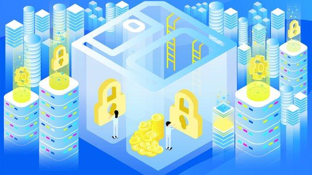 original 25d technology future cloud storage blue gradient illustration llustration image illustration image