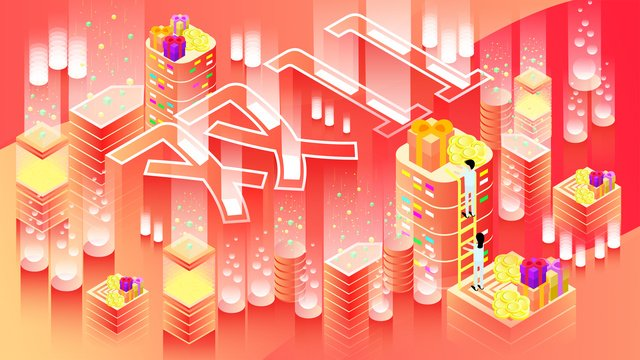 asal 25d double eleven shopping carnival illuminating gradient illustration imej keterlaluan