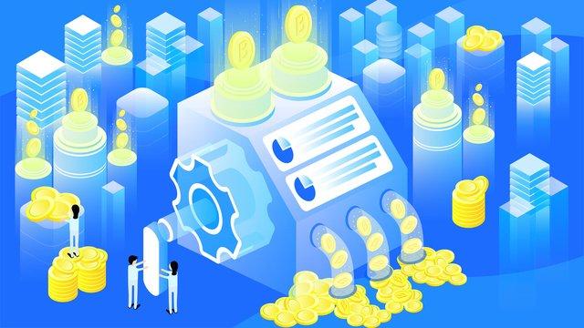original 25d finance technology bitcoin blue gradient illustration llustration image illustration image
