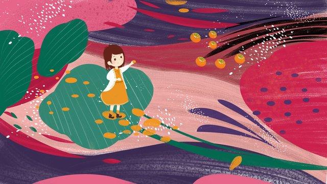 ビンテージテクスチャ秋秋柿オリジナルイラストを選ぶ イラスト素材 イラスト画像