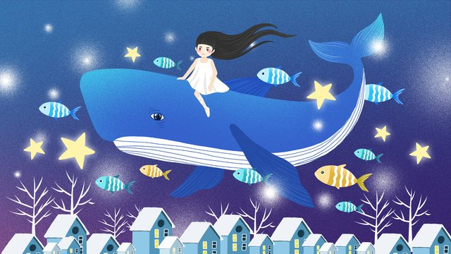 Aesthetic healing whale dream illustration, Aesthetic Healing System, Healing System Illustration, Whale Cure System Illustration illustration image