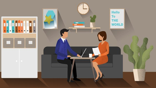 Ai business office scene character vector illustration llustration image illustration image