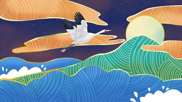 ambilight Ночные краны в китайском стиле Ресурсы иллюстрации