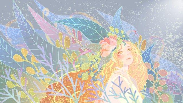 ambilight植物の美しいイラスト イラスト素材
