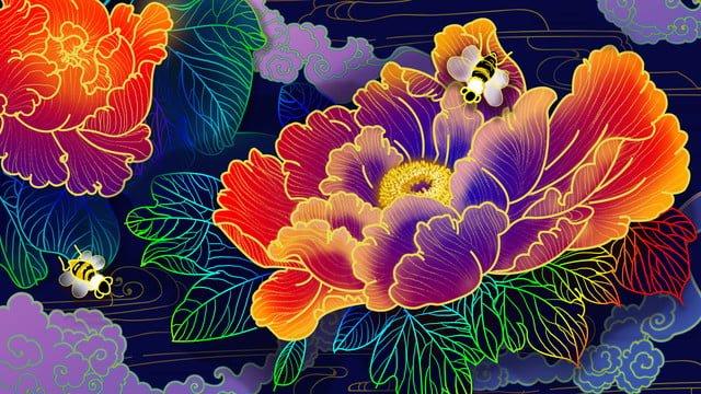 ambilight пион классический китайский стиль иллюстрации Ресурсы иллюстрации Иллюстрация изображения