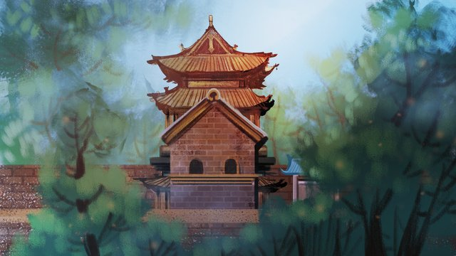 simple and delicate realistic architecture pingyao ancient city illustrator llustration image illustration image