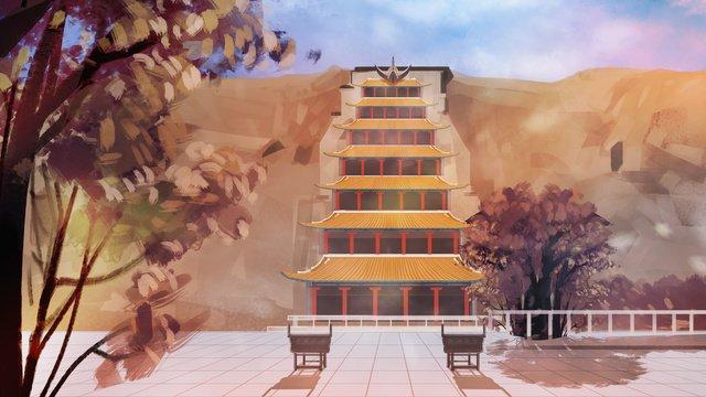 dunhuang mogao grottoes의 가을 삽화 소재