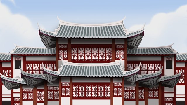 ancient architecture realistic illustration llustration image
