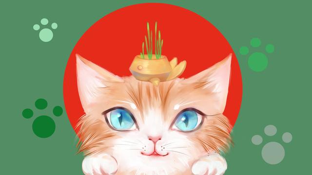 animal Cat Cute pet Orange cat, Lovely, Illustration, Animal illustration image