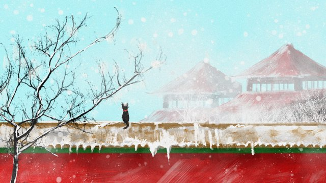 ancient building red wall original illustration llustration image illustration image