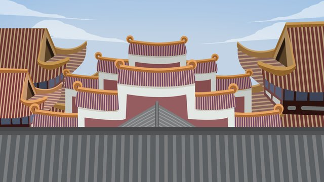 ancient architecture palace building llustration image illustration image