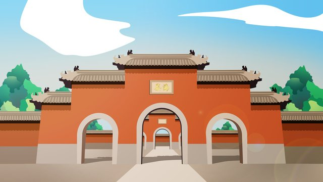 ancient architecture building sea llustration image illustration image