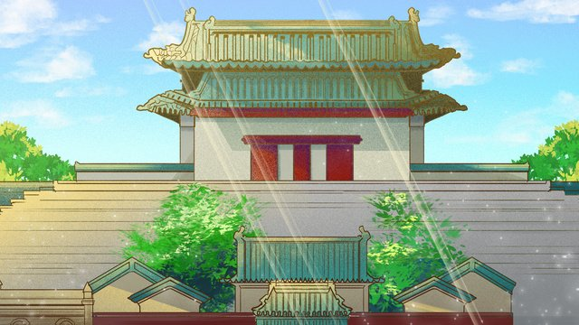 ancient architecture old beijing ninetowns anding gate llustration image illustration image