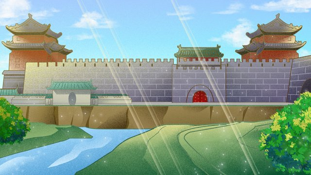 ancient style building old beijing ninetowns xizhimen llustration image illustration image