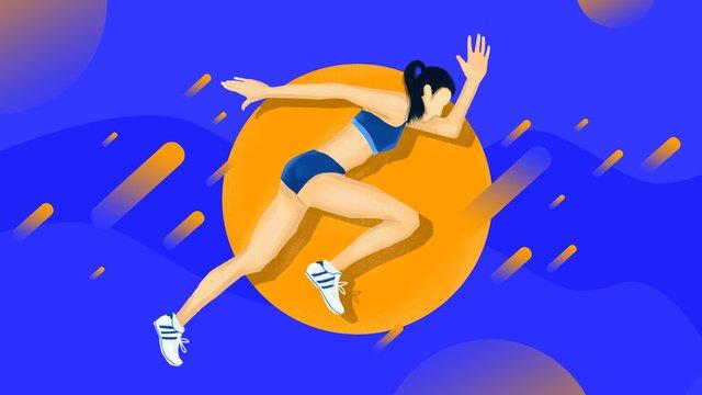 Không khí đơn giản khung cảnh tương phản mạnh mẽ các vận động viên chạy trong đường đua và sân thi đấu thể thao châu ÁĐại  Hội  Thể PNG Và PSD illustration image