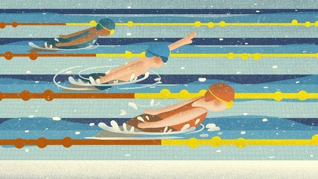 Trò chơi thể thao bơi lội châu Á minh họaĐại  Hội  Thể PNG Và PSD illustration image
