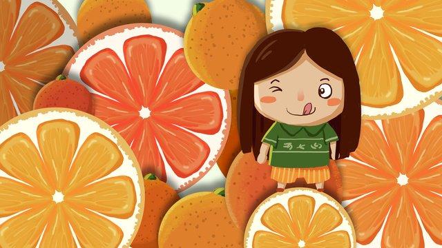 秋のオレンジ色の収穫図 イラスト素材 イラスト画像