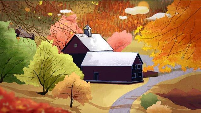 paisagem de outono na floresta Imagem de llustration