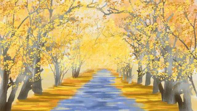 Atmospheric delicate sketch autumn leaves hand painted illustration llustration image illustration image