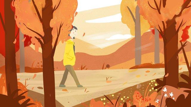 秋の森ガールオリジナルイラスト イラスト素材