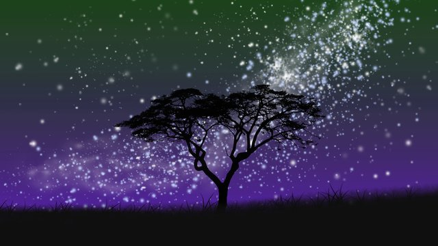 Beautiful healing starry sky, Beautiful, Cure, Starry Sky illustration image